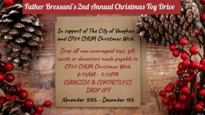 Father Bressani CHS Second Annual Toy Drive