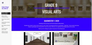 Grade 9 Visual Arts student portfolios