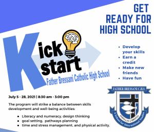 Future Grade 9 Students: Summer Program 2021 – GPP3O1